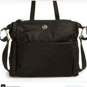 Tory Burch  black nylon baby diaper bag